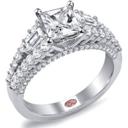 Remarkable Princess Cut Demarco Engagement Ring