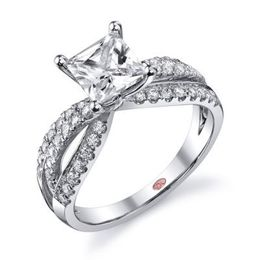 Elegant Princess Cut Engagement Ring By Demarco
