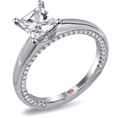 Demarco Princess Cut Solitaire Engagement Ring