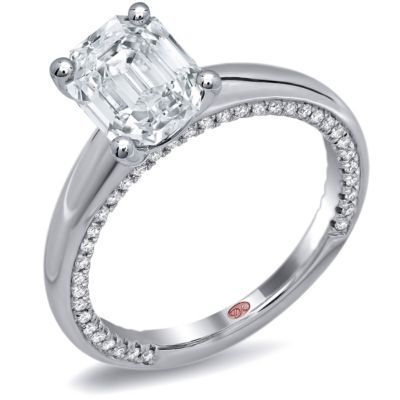 Emerald Cut Solitaire Demarco Engagement Ring
