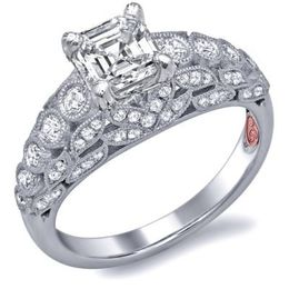 Stunning Asscher Cut Diamond Engagement Ring By Demarco