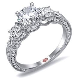 Elegant Diamond Engagement Ring By Demarco