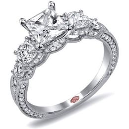 Romantic Diamond Engagement Ring By Demarco