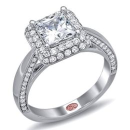Gorgeous Diamond Halo Engagement Ring By Demarco