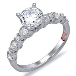 Radiant Diamond Engagement Ring By Demarco