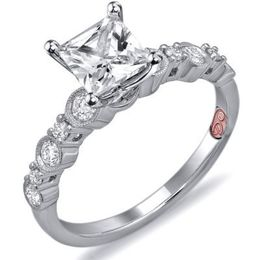 Stunning Princess Cut Engagement Ring By Demarco