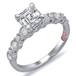 Romantic Asscher Cut Engagement Ring By Demarco