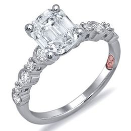 Flawless Emerald Cut Demarco Engagement Ring