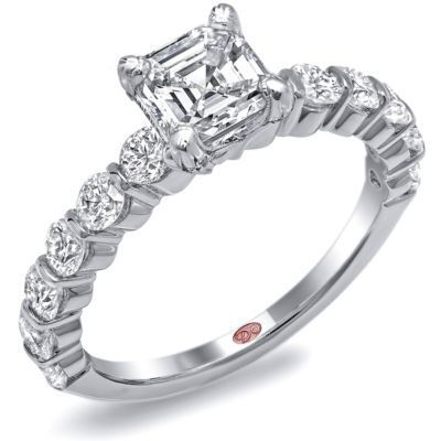 Elegant Asscher Cut Diamond Engagement Ring By Demarco
