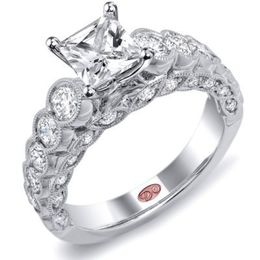 Sparkling Princess Cut Demarco Engagement Ring