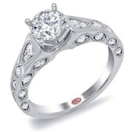 Brilliant Round Diamond Engagement Ring By Demarco