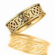 14K Yellow Gold Celtic Band