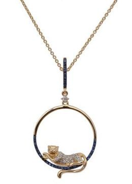 Yellow Gold Lion Circle Pendant