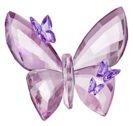 Swarovski Butterfly Amethyst Color Large