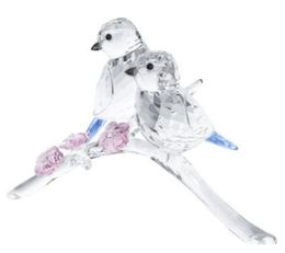 Swarovski Blue Tits Bird Couple