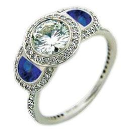 Ritani Endless Love Half Moon Sapphire Ring