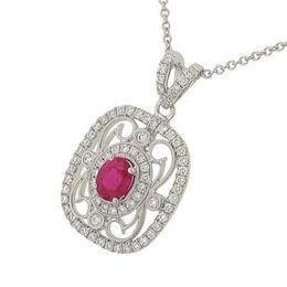 Simon G Ruby Diamond Pendant