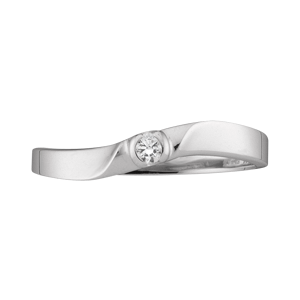White gold Mothers Ring style 156 with 1 Stones