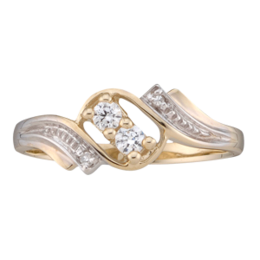Yellow gold Mothers Ring Style 50 with 2 Stones