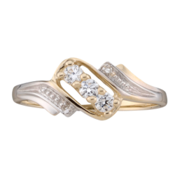 Yellow gold Mothers Ring Style 50 with 3 Stones