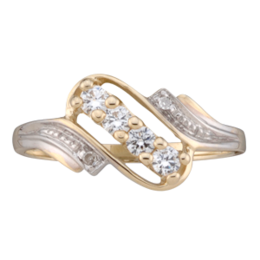 Yellow gold Mothers Ring Style 50 with 4 Stones