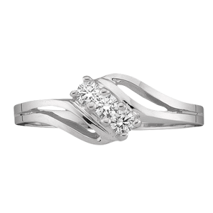 White gold Mothers Ring Style 18 with 3 Stones