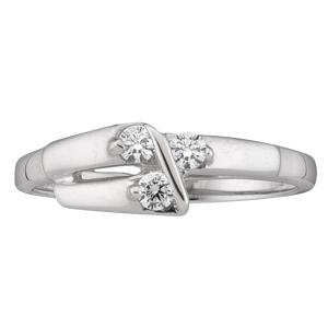 White gold Mothers Ring style 160 with 3 Stones