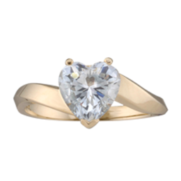 Yellow gold Mothers Ring Style 154 with 1 Stones