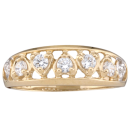Yellow gold Mothers Ring Style 59 with 5 Stones