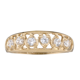 Yellow gold Mothers Ring Style 59 with 6 Stones