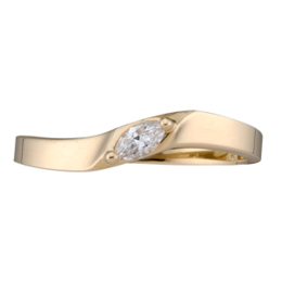 Yellow gold Mothers Ring Style 155 with 1 Stones