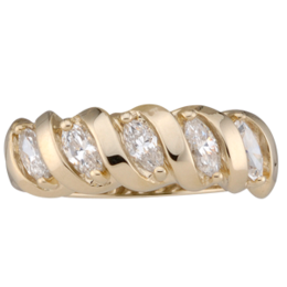 Yellow gold Mothers Ring Style 47 with 5 Stones