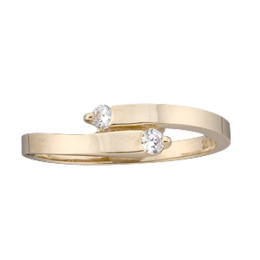 Yellow gold Mothers Ring Style 147 with 2 Stones