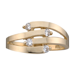 Yellow gold Mothers Ring Style 149 with 2 Stones