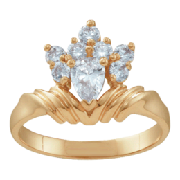 Yellow gold Mothers Ring Style 10 with 8 Stones