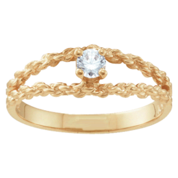 Yellow gold Mothers Ring Style 17 with 1 Stones