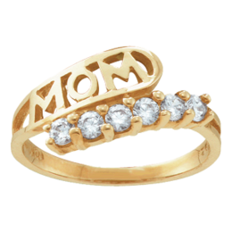 Yellow gold Mothers Ring Style 30 with 6 Stones
