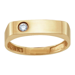 Yellow gold Mothers Ring Style 153 with 1 Stones