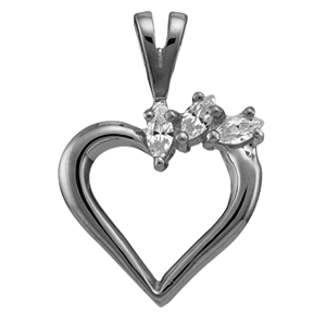 White gold Mothers Pendant Style 87 with 3 Stones