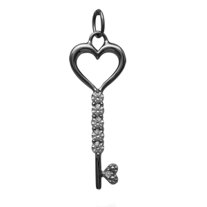 White gold Mothers Pendant Style 259 with 1 Stones