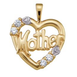 Yellow gold Mothers Pendant Style 81 with 4 Stones