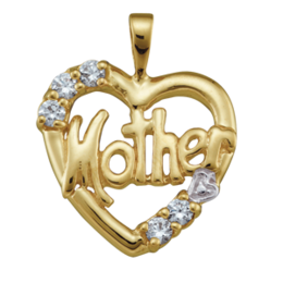 Yellow gold Mothers Pendant Style 81 with 5 Stones