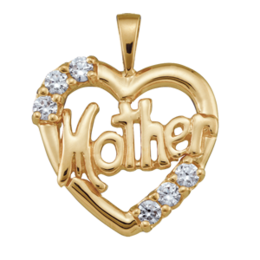 Yellow gold Mothers Pendant Style 81 with 6 Stones