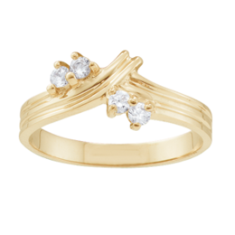 Yellow gold Mothers Ring Style 1 with 4 Stones