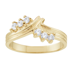 Yellow gold Mothers Ring Style 1 with 6 Stones