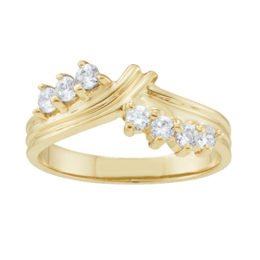 Yellow gold Mothers Ring Style 1 with 7 Stones