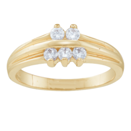 Yellow gold Mothers Ring Style 45 Birthstone Ring with 5 Stones