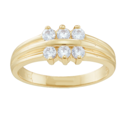 Yellow gold Mothers Ring Style 45 with 6 Stones