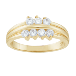 Yellow gold Mothers Ring Style 45 with 7 Stones