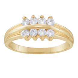 Yellow gold Mothers Ring Style 45 with 8 Stones